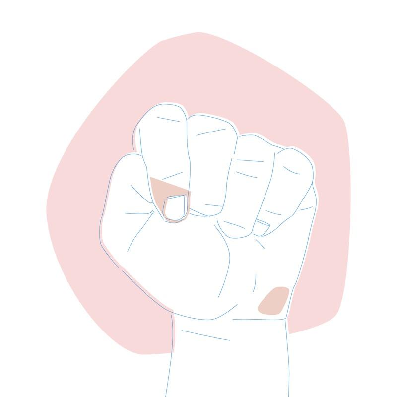 Menschen bei denen der Daumen in der Hand liegt sind liebevoll, emotional und introvertiert