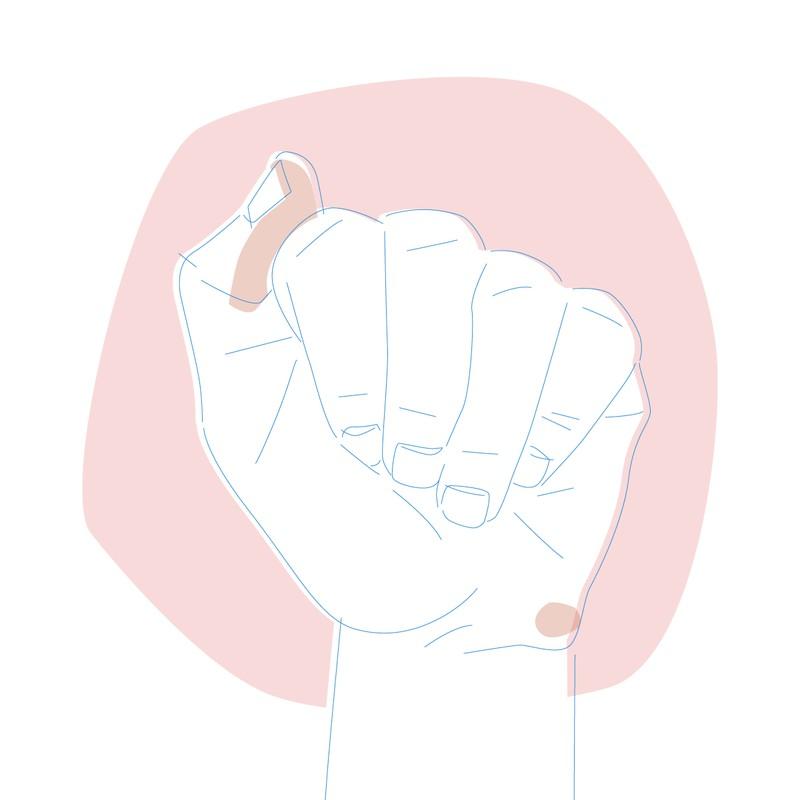 Menschen bei denen der Daumenüber dem Zeigefinger liegt sind Stark, intuitiv, selbstschützend