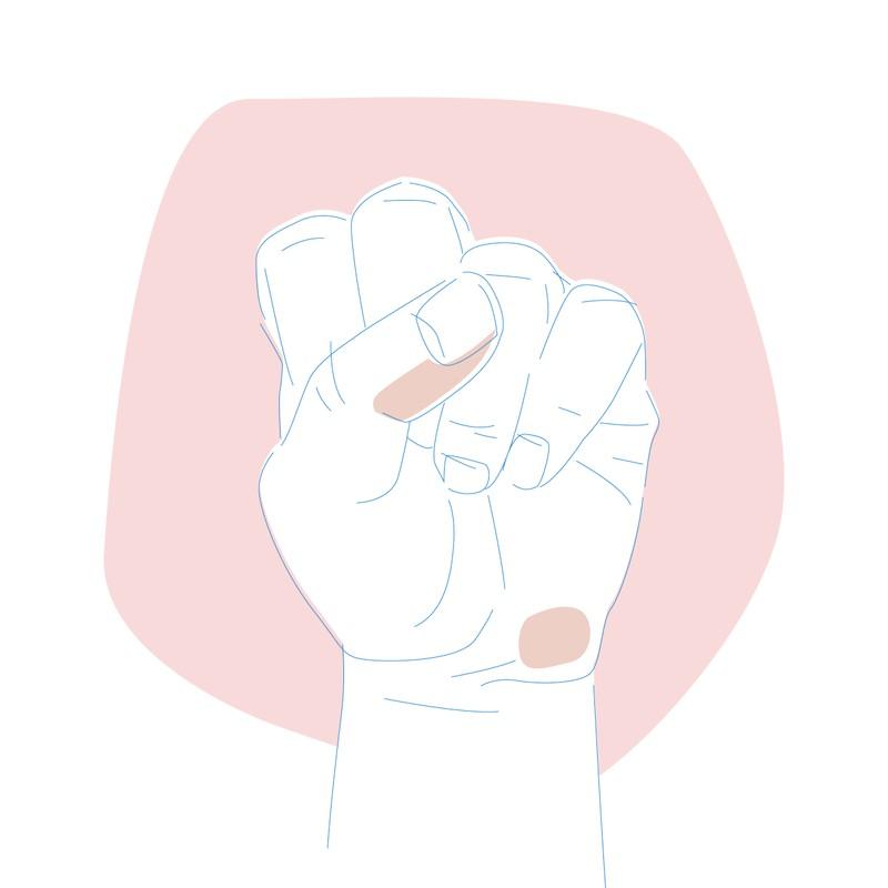 Menschen, die Den Daumen über die übrigen Finger legen sind selbstsicher, aufgeschlossen und ehrlich
