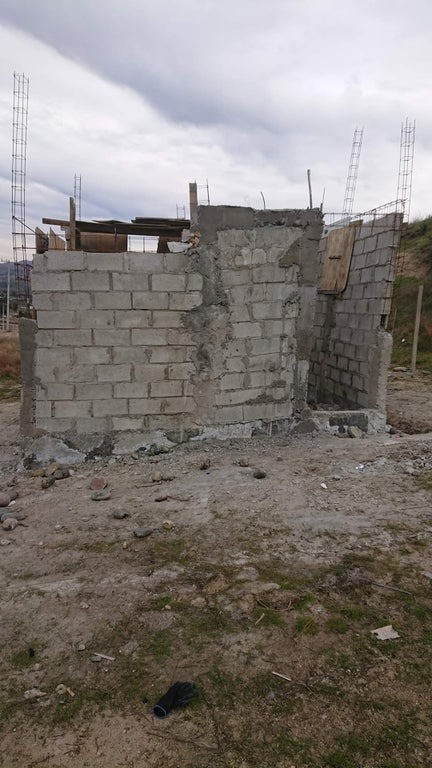 Die Mauer sieht sehr schlecht gebaut aus