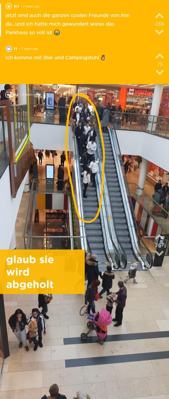 Es werden erste Schritte eingeleitet um die Zielperson in das Einkaufszentrum zu locken