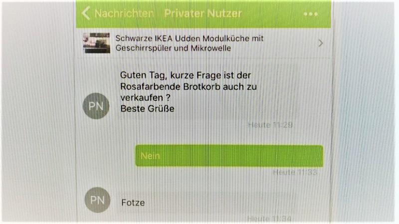 Dieser eBay Chatverlauf eskalierte schnell