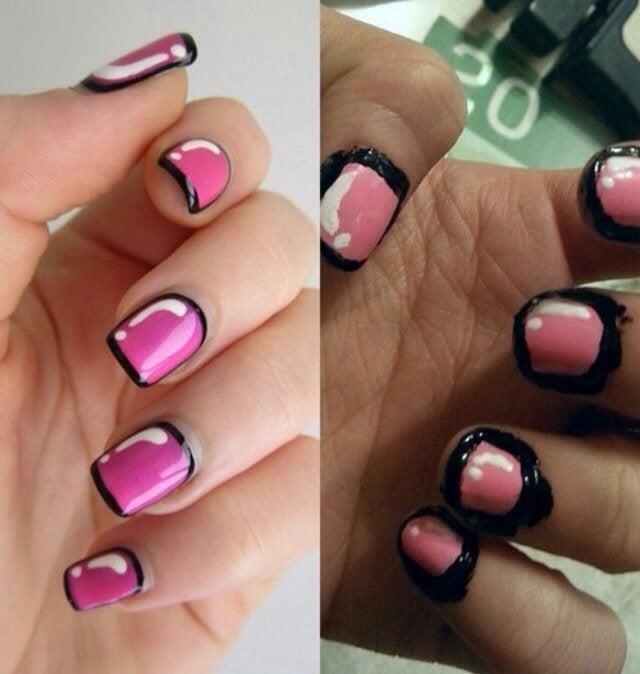 Schönheitsexperiment mit Nägeln, das schief gegangen ist