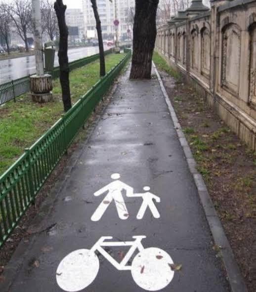Einen Fußgängerweg zu bauen, scheint nicht die einfachste Aufgabe zu sein.