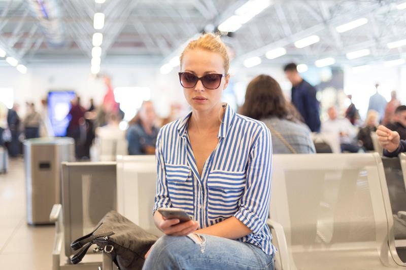 Die Schlussmach-Story der Frau ereignete sich am Flughafen