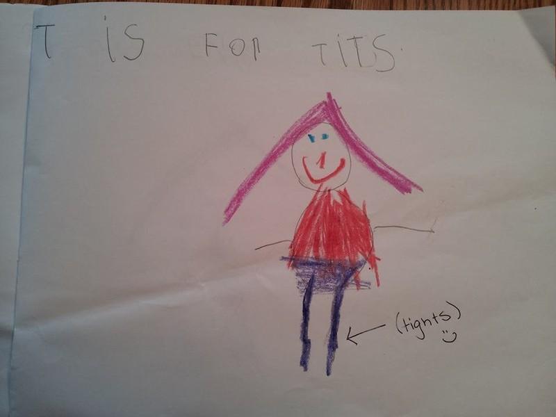 Manchmal malen Kinder Bilder, deren Inhalt sie selber nicht verstehen und bringen Erwachsene damit zum Lachen.