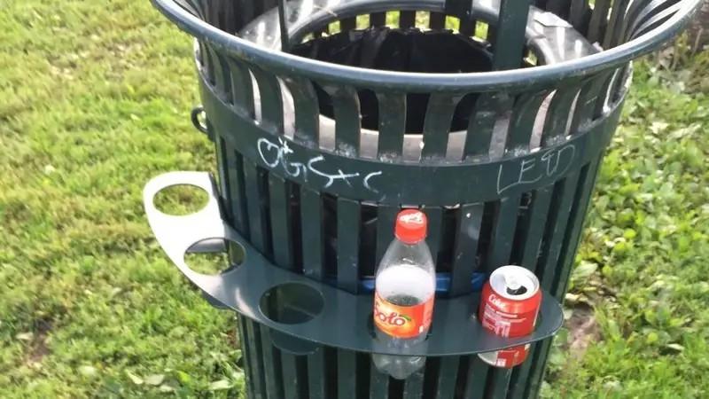Pfandflaschensammler müssen nun nicht mehr im Müll herumwühlen, was für sie eine geniale Erfindung ist