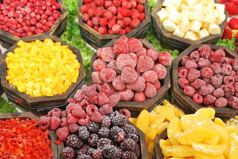 Nicht alle Obst und Gemüse Sorten kann man gut einfrieren.