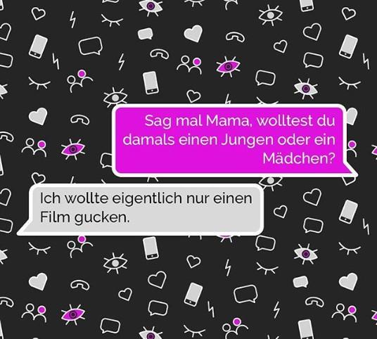 Die Mutter wollte kein Kind haben, schreibt sie im Chat