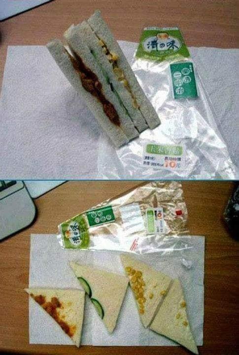 Was ein Tag...Das Sandwich sah von außen super gut aus, ist ausgepackt aber eine einzige Entäuschung