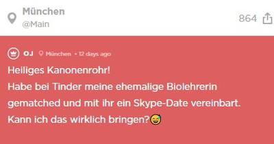 Jodler matcht seine ehemalige Lehrerin bei Tinder - und hat ein Date