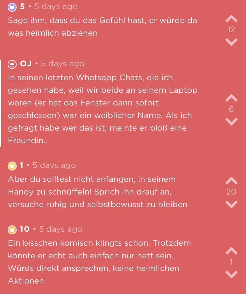 OJ vermutet, dass ihr Freund ihr mit einer anderen Frau untreu ist, weil sie einen weiblichen Namen in seinen WhatsApp-Nachrichten sieht.