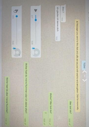 Auf Jodel sieht man den Chatverlauf mit dem Anrufer