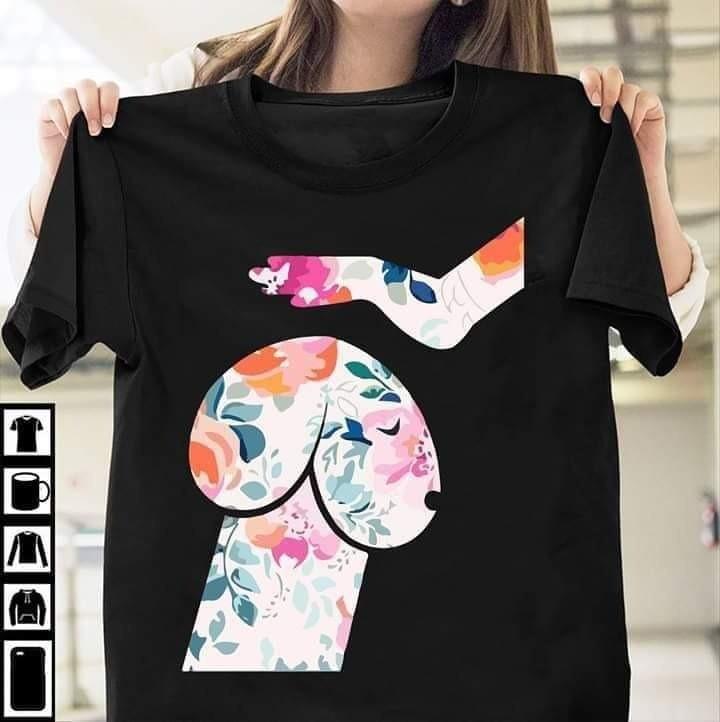 Das Design des T-Shirts wirkt sehr zweideutig.