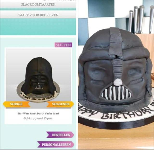 Bittere Enttäuschung: Der Kuchen sieht doch wirklich anders aus, als wir ihn Online gesehen haben!