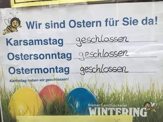 Das Schild ist so deutsch, dass es verwirrt