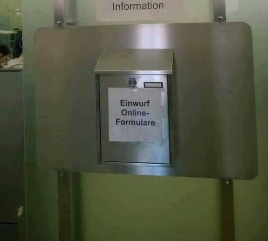 Das Schild ist typisch deutsch