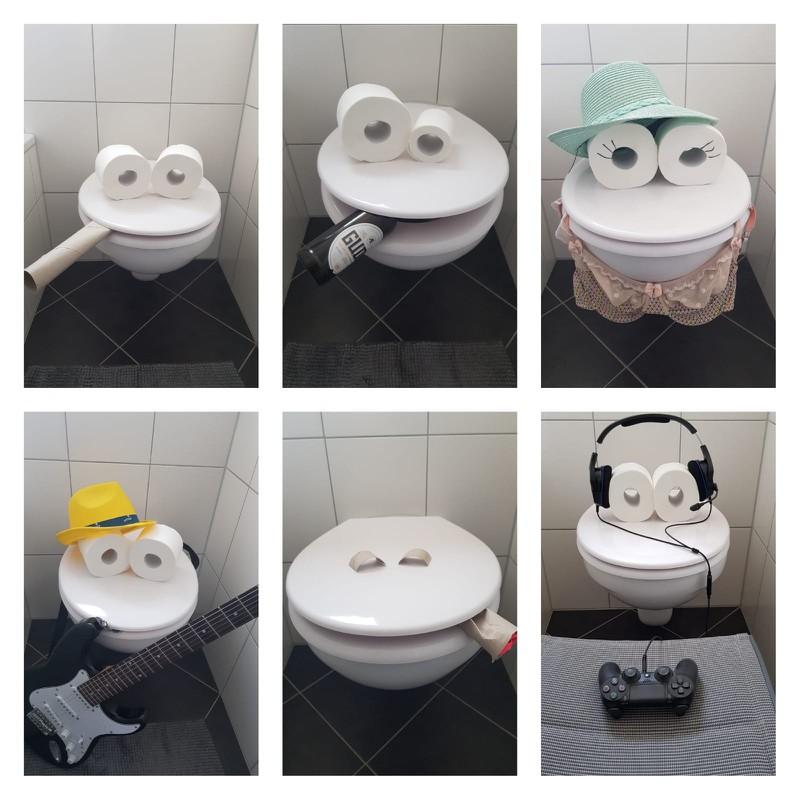 Eine Frau dekorierte wegen der Quarantäne ihre Toilette um