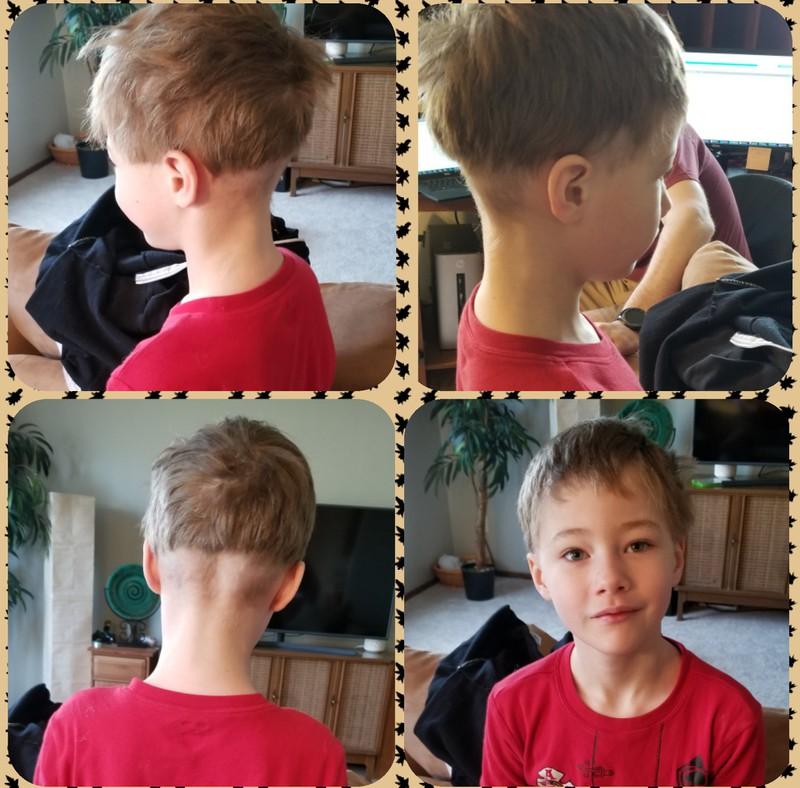 Dieser Haarschnitt wird dem Jungen wohl noch ewig in Erinnerung bleiben.