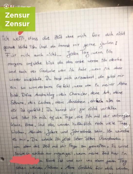 Der Brief von OJs Freund ist sehr eindeutig.