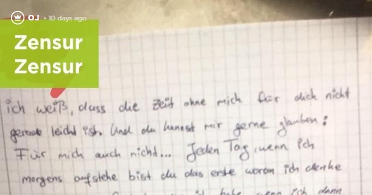 OJ findet einen Brief von ihrem Freund an eine andere