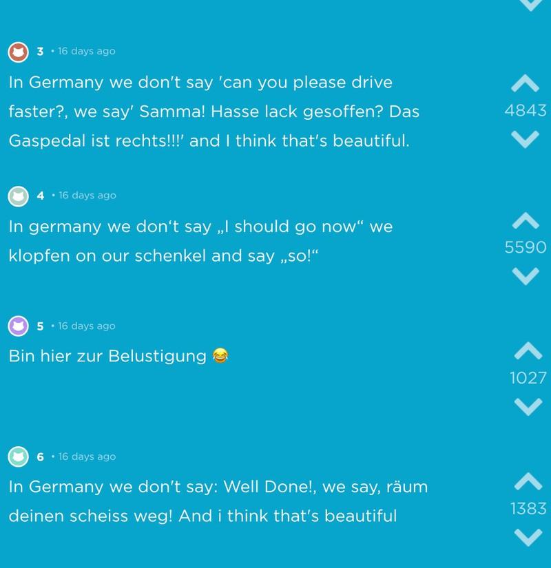 Jode-Screenshot mit den besten Sprüchen über Deutschland