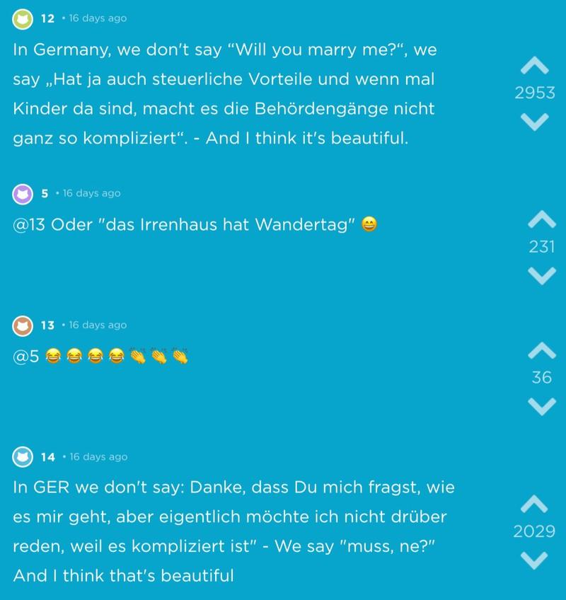 Typisch deutsche Sprüche, die einen zum Lachen bringen