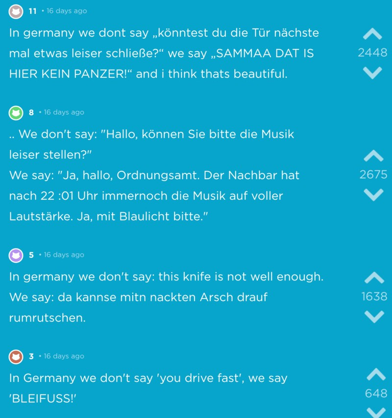 Weitere witzige Sprüche, die typisch deutsch sind