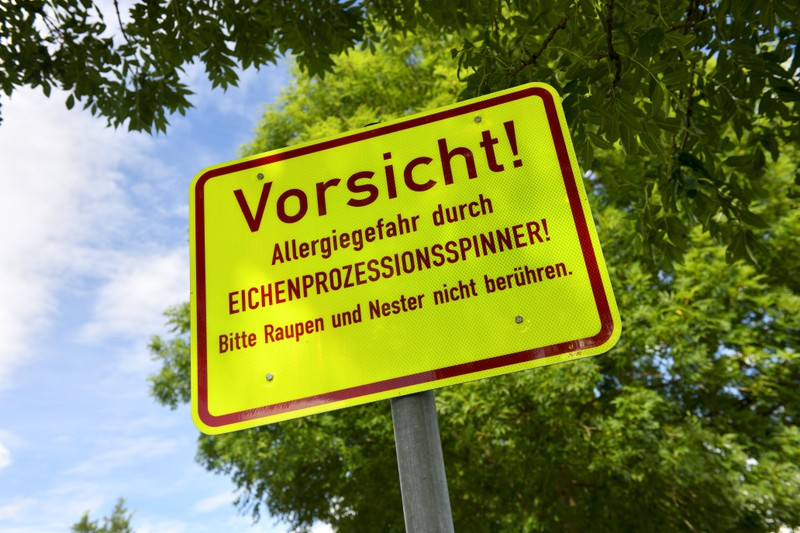 Typisch deutsch: Erstmal ein Schild aufstellen.