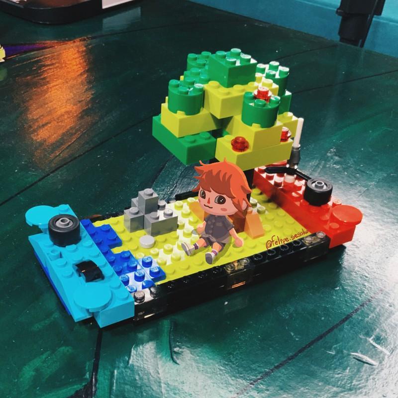 Diese Nintendo Switch aus Lego sieht sehr real aus.