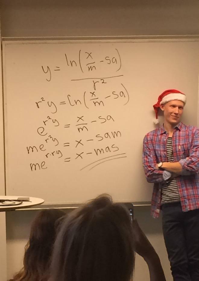 Eine Mathegleichung zu Weihnachten