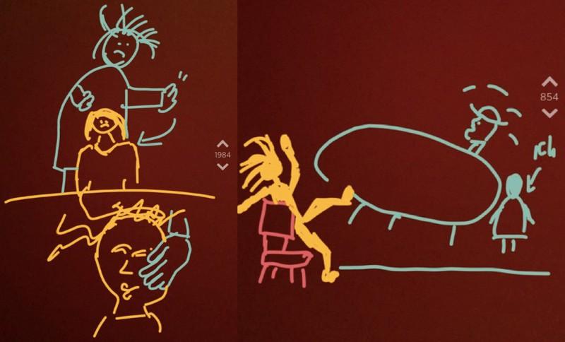Die Zeichnungen von OJ.