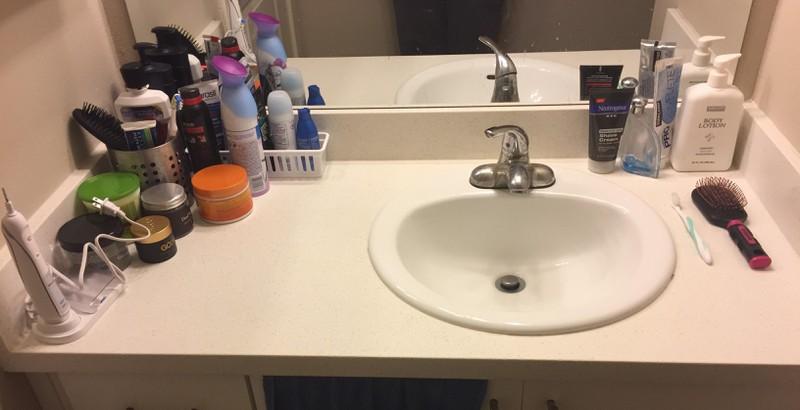 Der eine braucht mehr im Bad und der andere weniger.