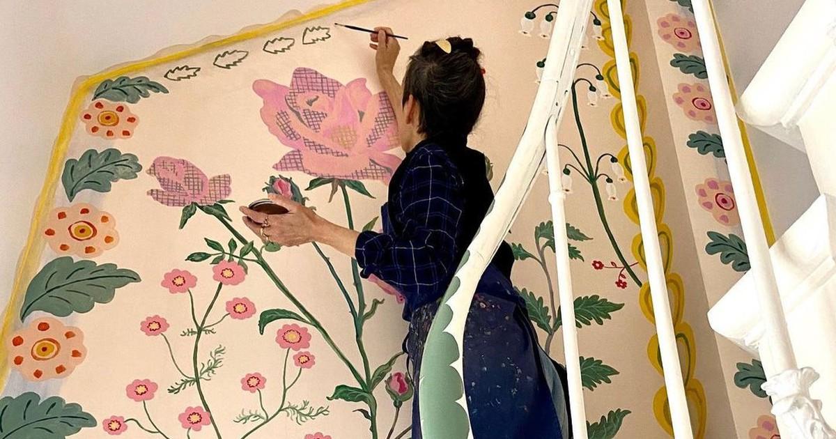 Künstlerin verwandelt ihr Haus in der Quarantäne in ein Kunstwerk