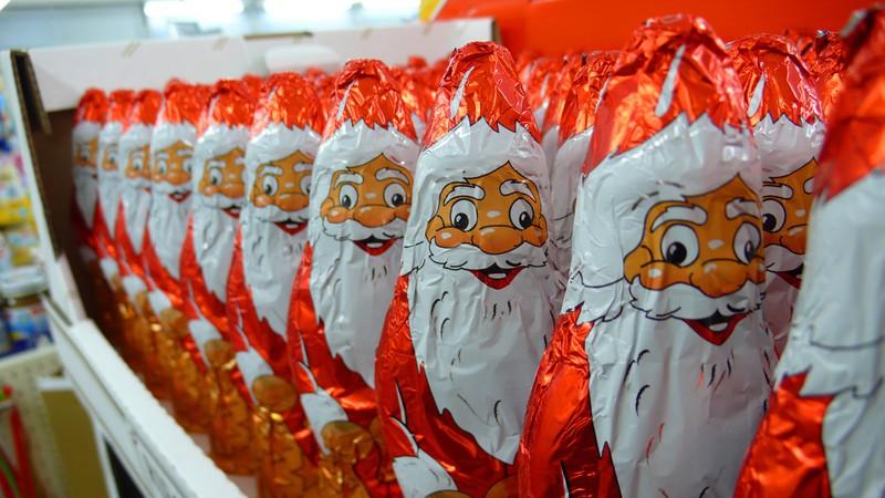 An den Kassen der Geschäfte befindet sich oft viel Schokolade