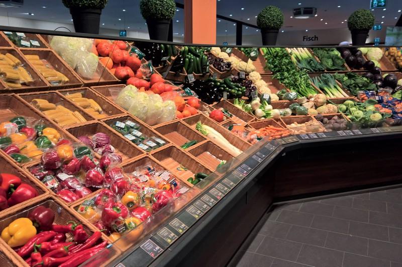 Oft ist der Obstbereich in Geschäften überbelichtet