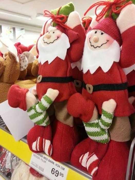 Das Design der Weihnachtspuppen ist definitv ein Fail