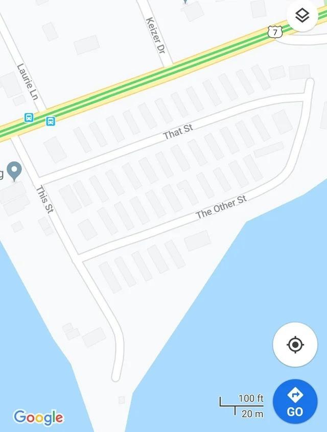Straßennamen, die nicht besonders originell oder kreativ sind