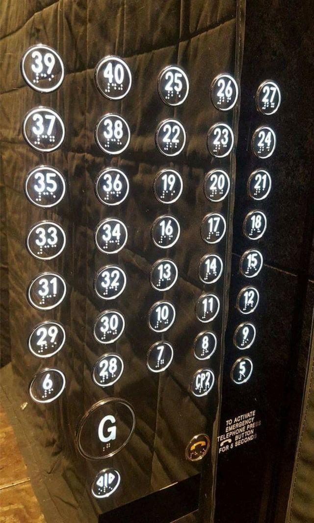 Der Architekt hat bei dem Aufzug nicht nachgedacht