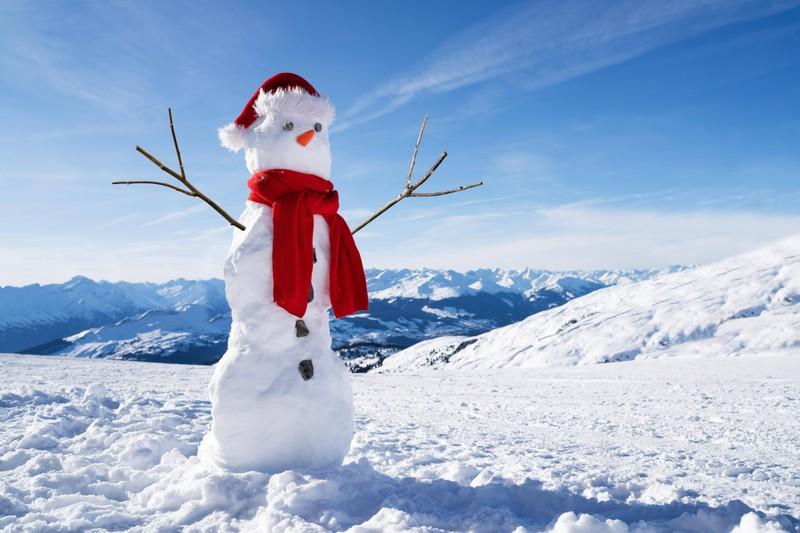 Beim Schneemann sind einige besonders kreativ