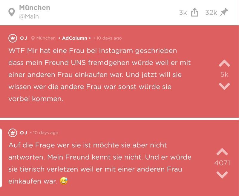 OJ bekommt auf Instagram eine Nachricht von einer Frau, die behauptet, dass ihr Freund fremdgeht.