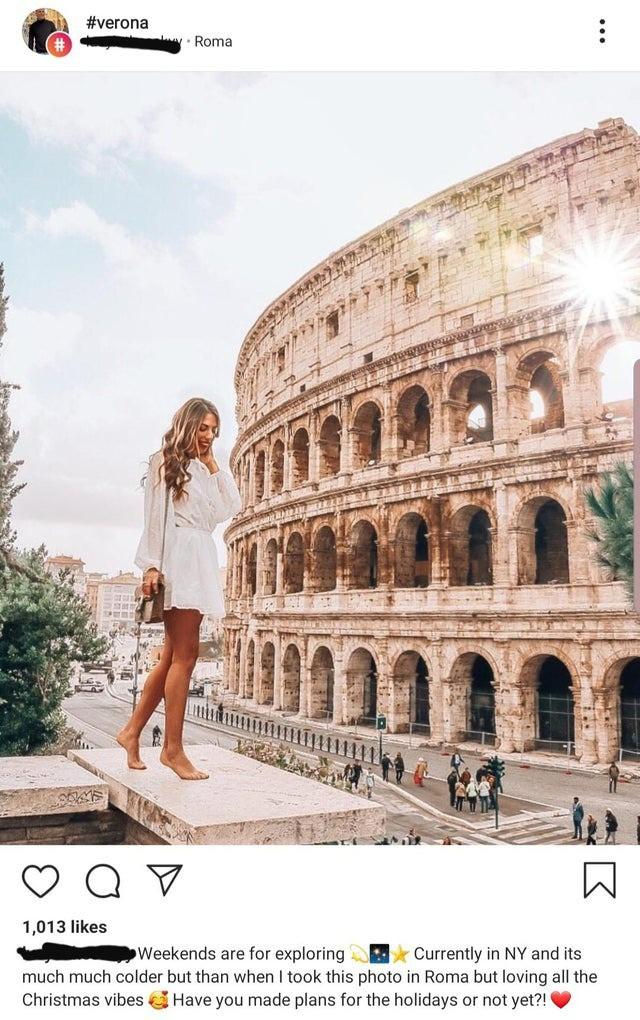 Die Instagramerin hat sich nach Italien gephotoshopt